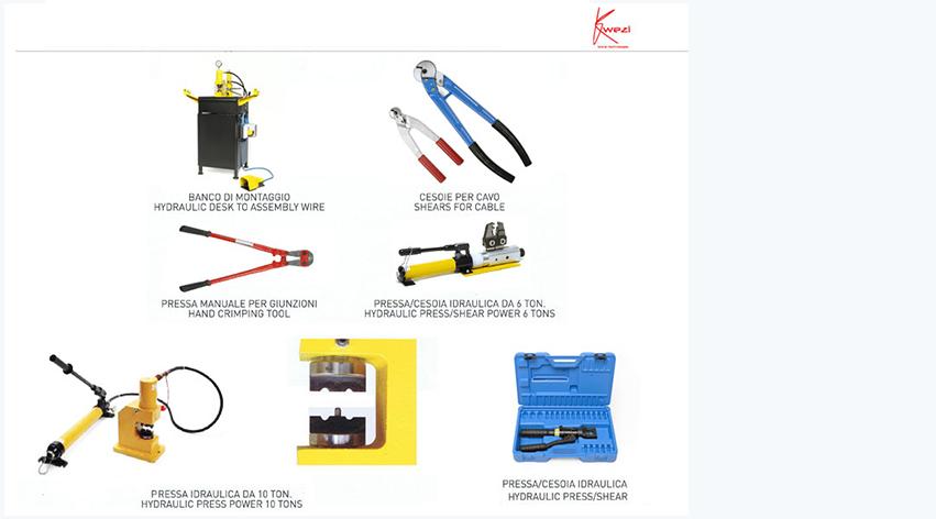 Accessori attrezzatura per taglio giunzione ricostruzione filo diamantato