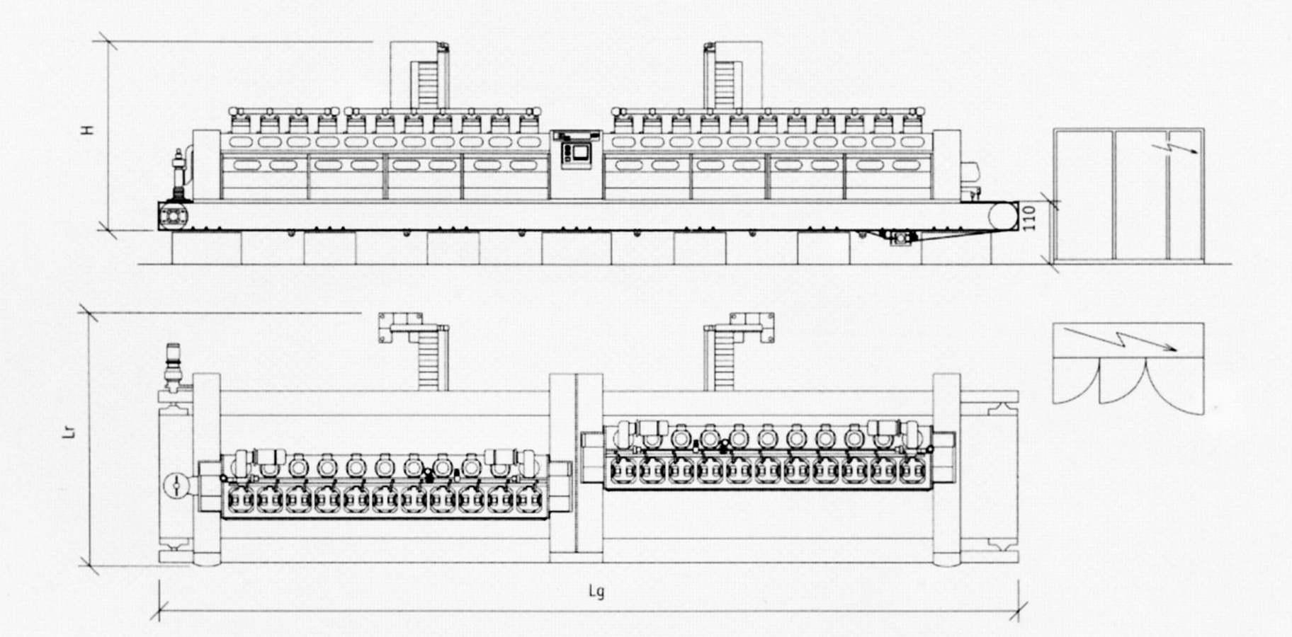 KLGM 220 Macchina Lucidatrice schema struttura interna