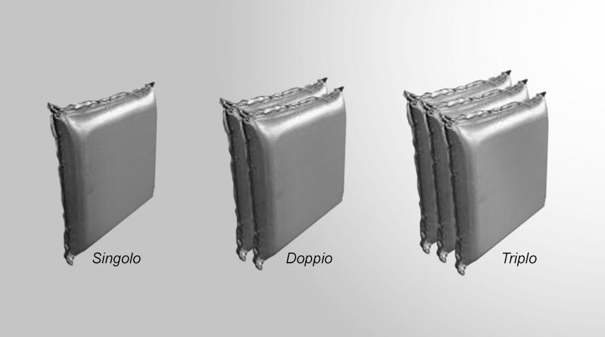 Hydro Cushion - Cuscino ad acqua singolo doppio triplo